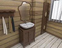 Wooden bathroom