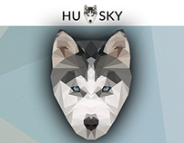 LOW POLY - Husky.