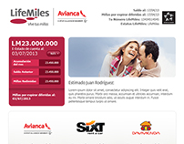LifeMiles Newsletter Design