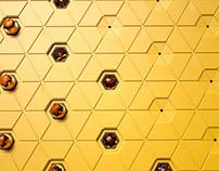 Amber & Hexagon