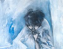 """""""Winter"""", graphite/oil on canvas"""