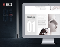 Maze | Creative Agency PSD Template