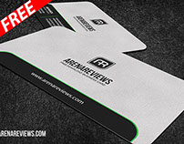 Sleek Rounded Corner Business Card (FREE)