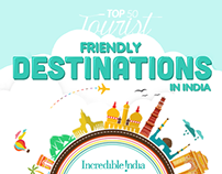 Tourist Friendly Destinations in India - Infographic