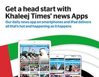 Khaleej Times Apps Print Ads
