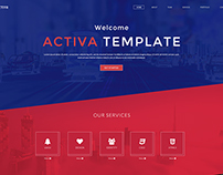 Activa One Page Template