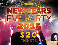 Poster A4 New Years 2015 - Eve Party