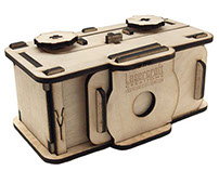 35 mm laser cut pin hole camera
