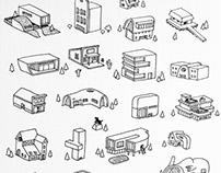 Architecture Houses - 3d prints