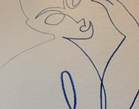Oneline Modigliani