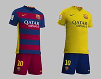 Posibles equipaciónes F.C. Barcelona 15/16