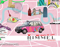 Rimmel Bus Route Illustration