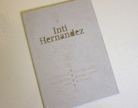 Art catalogue for Inti Hernandez