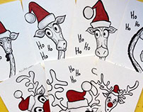 hand illustrated xmas cards