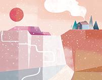 Wintery Cliffs
