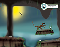 Dino Run Controlled  by MYO Gesture Armband