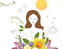 Illustrations & Design for Shop with Bio Cosmetics