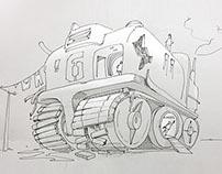 Teenager doodles