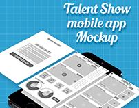 Talent Show app mockup