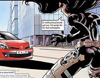 """Print Campaign Clio""""Woher nimmt er diese Kraft"""""""