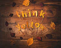 Think yellow | Typography tactil design project