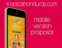 Tropicalhonduras.com mobile version proposal