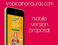 Tropicalhonduras.com mobile version proposal