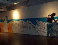 Intervención en museo Carlos Cruz Diez - Miss Hask