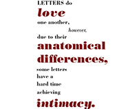 'Letters do love one another...""