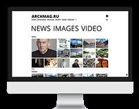 archmag.ru website design