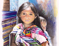 Child on a Market in Chiapas, Mexico