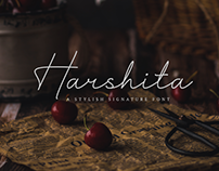 HARSHITA - FREE SIGNATURE FONT