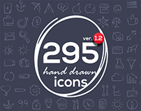 295 Hand Drawn icon set Ver. 1.2