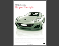 Free Magazine Ad For Cars PSD Template