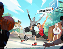 illustration for free style 3on3.#02
