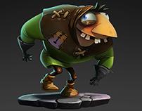 Character design. Zomb Raider.