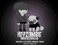 Hey Zombie Indie Design Lab - Web Design