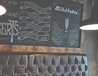 TYPOGRAPHY IN A BURGER RESTAURANT