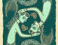 Mermaid Card - Fish and Ships Deck