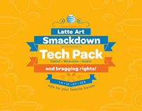 AT&T Latte Art Smackdown Splash page + Flyer