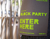 Seattle Design Festival Block Party Wayfinding