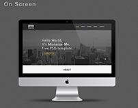 Minimize-Me Portfolio Template (FREE PSD)