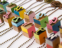Typographic Necklaces