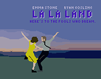 la la land | pixelated poster