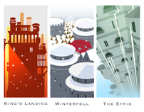 Castles of the Seven Kingdoms, a Game of Thrones homage