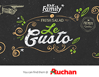 KK family - LeGusto salad mix package design