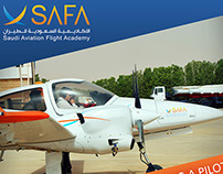 Saudi Aviation Flight Academy Rollup Design