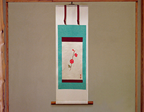 "Plum Blossom ""Kakejiku"" Japanese hanging scroll"