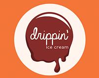 Drippin' ice cream, branding and advert