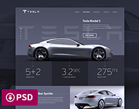 Tesla «Model S» Promosite Concept
